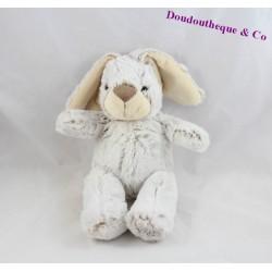 Peluche lapin CP INTERNATIONAL gris beige poil long 30 cm