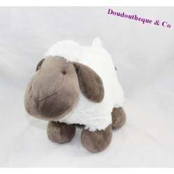 Peluche mouton ATMOSPHERA blanc marron 23 cm