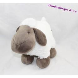 Peluche mouton ATMOSPHERA blanc marron 23 cm