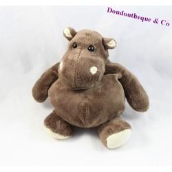 Doudou hippopotame HISTOIRE D'OURS marron HO1058