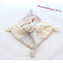 Sheep flat Doudou words of children LECLERC beige cream peas 25 cm