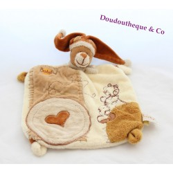 Doudou Chien Ours orange étoile BABY NAT luminiscent phosphorescent