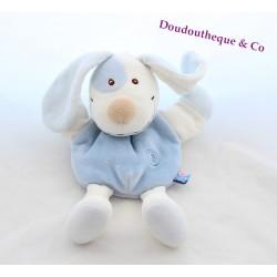 Doggie puppet comforter SUCRE D'ORGE blue white spirals 26 cm