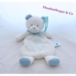 Bear flat Doudou blue white TEX reasons peas 33 cm