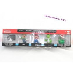 Pack de 5 figurines de collection Super Mario NINTENDO Abyss Corp