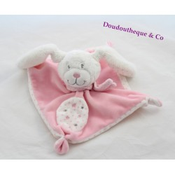 Bunny flat rabbit TEX BABY stars pink white square 19 cm