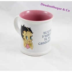 Mug relief Betty Boop AVENUE OF THE STARS blanc rose 10 cm