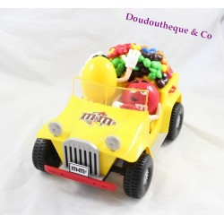 Distributeur M&M'S voiture 4x4 Rouge et Jaune 28 cm Collection