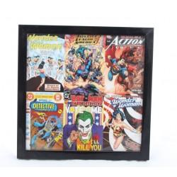 Cadre DC Comics image Justice ligue noir super héros encadré noir 26 cm