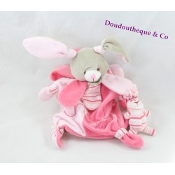Doudou marionnette lapin Célestine DOUDOU ET COMPAGNIE rose pétales