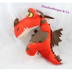 Peluche Krochefer dragon DRAGON 2 Dreamworks dragon rouge 32 cm
