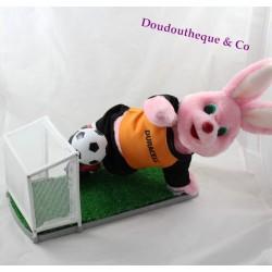 Peluche automate lapin DURACELL rose pile footballeur 34 cm