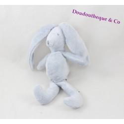 Doudou lapin Théophile et Patachou bleu 21 cm