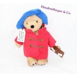 Peluche ours Paddington Bear RÄTTSTART manteau rouge chapeau bleu 27 cm Limité 2014