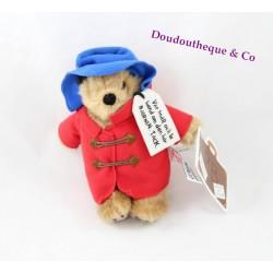 Peluche ours Paddington Bear RÄTTSTART manteau rouge chapeau bleu 18 cm Limité 2014