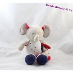 Doudou musical éléphant SUCRE D'ORGE 25 cm