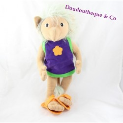 Plush purple hair Troll IKEA Sagolek Gray 1999