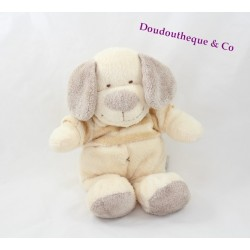 Peluche chien THE PLUSHIES COLLECTION BY LOMBOK beige pull rayé 28 cm