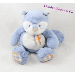 Doudou William raton laveur NOUKIE'S William et Henry peluche PM 25 cm