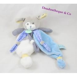 Doudou flat dog BABY NAT' The White Blue Poupis