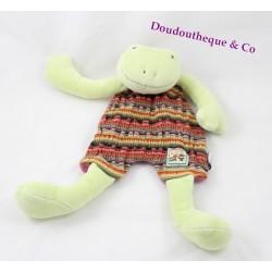 Perlette grenouille flat comforter MOULIN ROTY La Grande Famille 32 cm