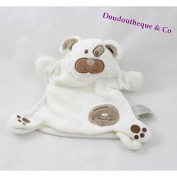 Doudou marionnette chien DOUDOU ET COMPAGNIE Monster douceur blanc