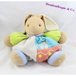 Doudou patapouf lapin KALOO collection anniversaire, bougies 26 cm