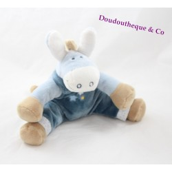Plush donkey NOUKIE Paco's star 25 cm Blue overalls