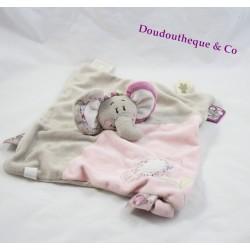 Elephant Kali flat comforter NOUKIE'S pacifier holder puppet