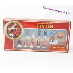 Coffret collector fèves Tintin 11 fèves en porcelaine dont 1 géante