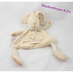 Doudou rabbit flat CMP P' little rabbit beige scarf 33 cm
