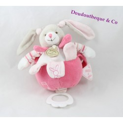 Musical stuffed toy Celestine rabbit DOUDOU ET COMPAGNIE musical