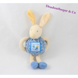 Plush rattle Bunny MOULIN ROTY Lise and Lulu blue 18 cm