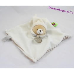 Doudou flat bear DOUDOU AND COMPAGNY white and brown Tatoo collection