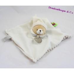 Doudou plat ours DOUDOU ET COMPAGNIE collection Tatoo blanc et marron