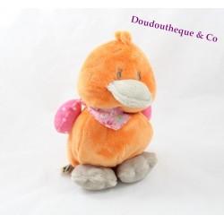 Peluche Babette canard NOUKIE'S Iris et Babette orange cancane 20 cm