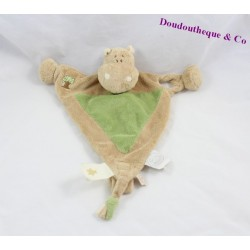 Doudou flat Hippoum hippopotamus NOUKIE'S triangle Hippoum, Baboum and zamba tether nipple