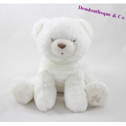 Teddy bear 25 cm white bread and chocolate Prosper