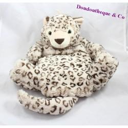 Plush range Pajamas leopard ETAM beige 45 cm hot water bottle