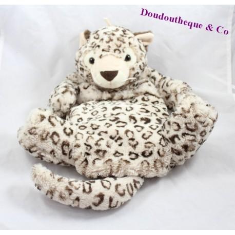 Plush Range Pajamas Leopard Etam Beige 45 Cm Hot Water Bottle Sos