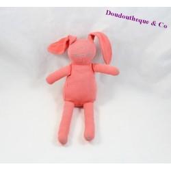 Doudou lapin PETIT BATEAU rose foncé 25 cm