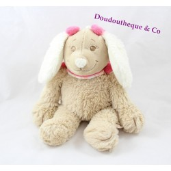 Plush musical dog Scuba NOUKIE' pink node S dog David 25 cm
