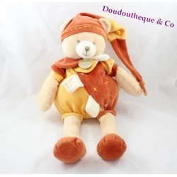 Peluche ours DOUDOU ET COMPAGNIE Cannelle collector orange 40 cm