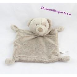 Doudou flat bear SIMBA TOYS BENELUX beige embroidered eyes 23 cm