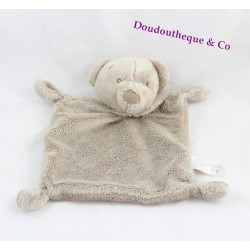 Doudou plat ours SIMBA TOYS BENELUX beige yeux brodés 23 cm