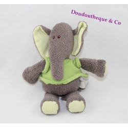 Plush elephant PERICLES Bizoo kiwi