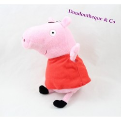 Peluche Peppa Pig PLAY BY PLAY cochon rose robe rouge 23 cm