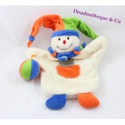 Doudou marionnette arlequin DOUDOU ET COMPAGNIE clown 30 cm