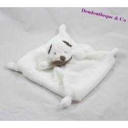 Doudou plat ours SIMBA TOYS blanc foulard marron 24 cm