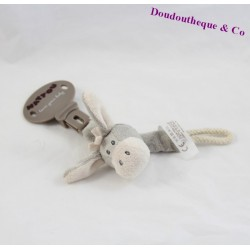 NATTOU donkey pacifier clip Cappuccino